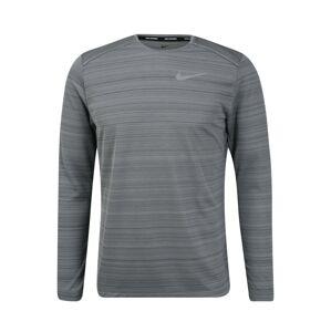 NIKE Funkční tričko 'DRY MILER'  světle šedá