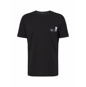 !Solid Tričko 'Masum'  černá / bílá