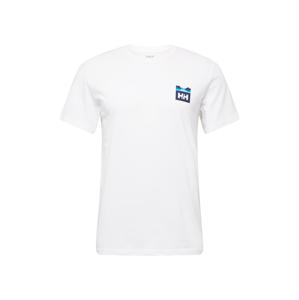 HELLY HANSEN Funkční tričko  bílá / noční modrá / tyrkysová