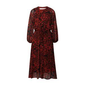 InWear Košilové šaty 'Florizza'  červená / černá