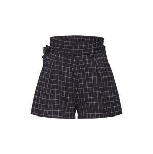 Parallel Lines Kalhoty se sklady v pase  černá