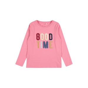 NAME IT Tričko 'OGIMMI'  růžová / zlatá / ohnivá červená / pastelově žlutá / námořnická modř