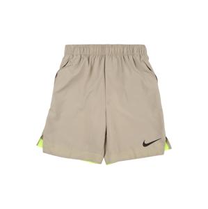 NIKE Sportovní kalhoty  svítivě žlutá / starobéžová / černá