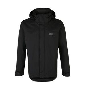 JACK WOLFSKIN Outdoorová bunda 'HIGHLAND'  černá / šedá
