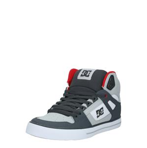 DC Shoes Kotníkové tenisky 'Pure'  bílá / tmavě šedá / světle červená