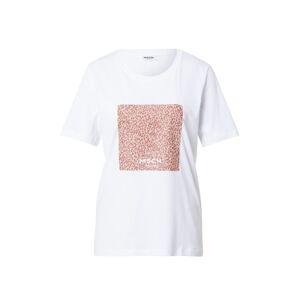 MOSS COPENHAGEN Tričko 'Alva'  růžová / bílá