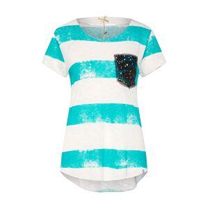 Key Largo Tričko  béžová / aqua modrá