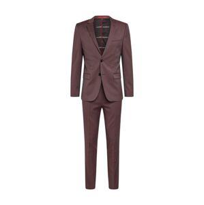 HUGO Oblek  hnědá / pink