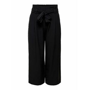 ONLY Kalhoty se sklady v pase  černá