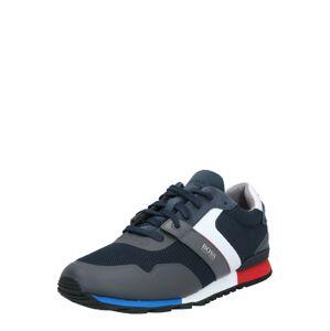 BOSS Tenisky 'Parkour_Runn_meth'  červená / bílá / námořnická modř / modrá