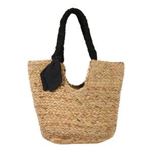 PIECES Nákupní taška  černá / béžová