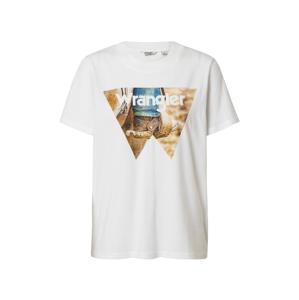 WRANGLER Tričko  bílá