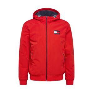 Tommy Jeans Přechodná bunda  červená / bílá / námořnická modř