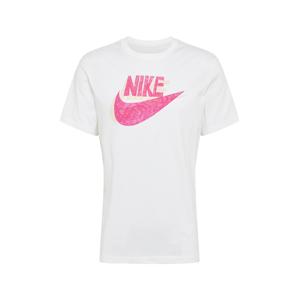 Nike Sportswear Tričko ' HAND DRAWN '  bílá / pink / pastelově žlutá