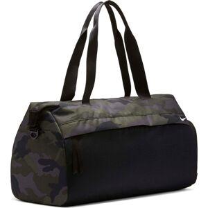 NIKE Sportovní taška 'Radiate'  černá / tmavě zelená / šedá
