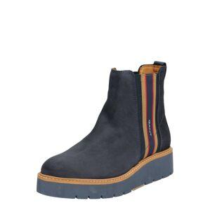 GANT Chelsea boty  červená / marine modrá / hnědá