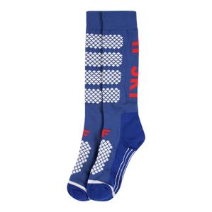 4F Sportovní ponožky  kobaltová modř / bílá / červená