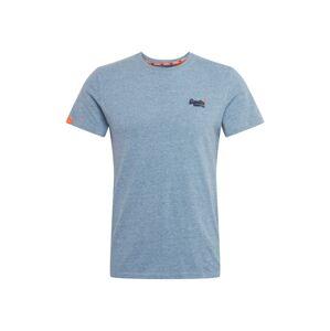 Superdry Tričko  světlemodrá / oranžová / tmavě modrá