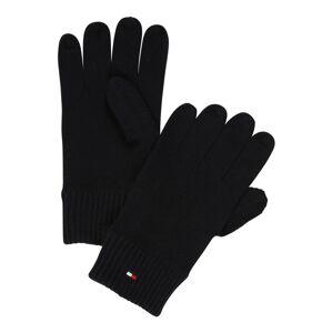 TOMMY HILFIGER Prstové rukavice 'Pima'  černá