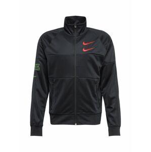 NIKE Sportovní bunda  oranžově červená / světle zelená / černá