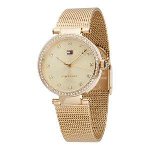 TOMMY HILFIGER Analogové hodinky 'Sophisticated Sport'  zlatá / bílá