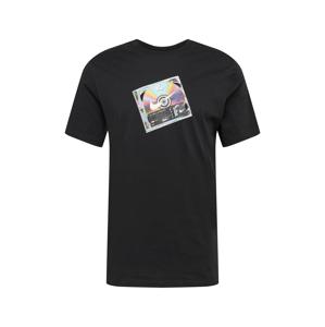 Nike Sportswear Tričko  černá / stříbrná / mix barev