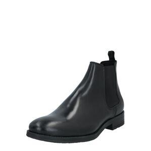JACK & JONES Chelsea boty  černá
