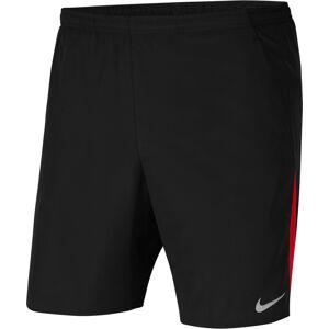 NIKE Sportovní kalhoty  černá / ohnivá červená / světle šedá