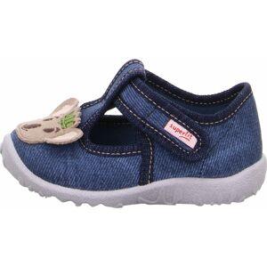 SUPERFIT Pantofle 'SPOTTY'  béžová / tmavě modrá
