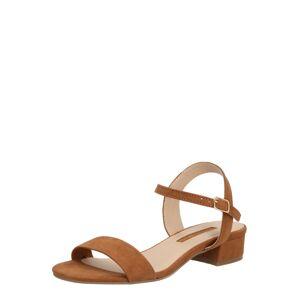 Dorothy Perkins Páskové sandály 'SPRIGHTLY'  karamelová