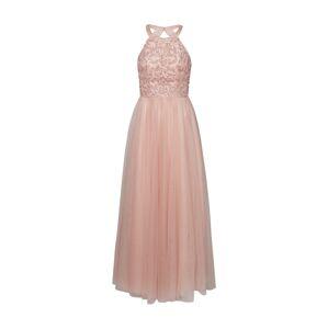 Unique Společenské šaty  stříbrná / růže