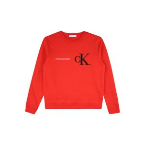 Calvin Klein Mikina  červená / černá / bílá