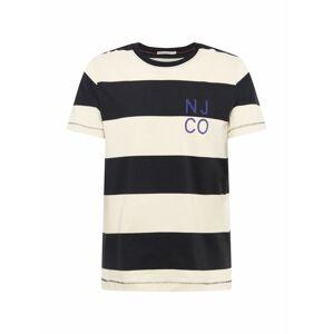 Nudie Jeans Co Tričko 'Roy Block Stripe'  černá / bílá