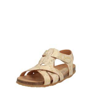 BISGAARD Otevřená obuv  béžová / zlatá