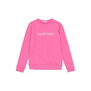 Calvin Klein Jeans Mikina  bílá / pink