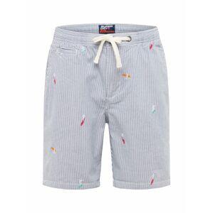 Superdry Chino kalhoty  námořnická modř / bílá