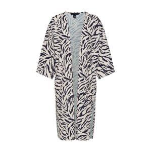 NEW LOOK Kimono 'DAVID TIGER POLY CREPE KIMONO'  hnědá / černá