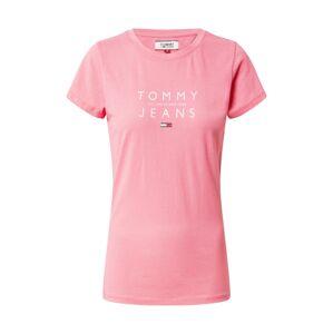 Tommy Jeans Tričko  růžová / bílá / červená