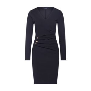 Dorothy Perkins Pouzdrové šaty 'BUTTON DETAIL BODYCON'  černá