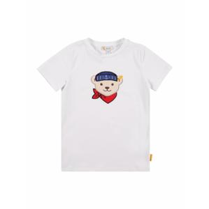 Steiff Collection Tričko  bílá / světle hnědá / marine modrá / červená