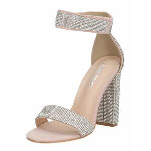 Public Desire Páskové sandály  stříbrná