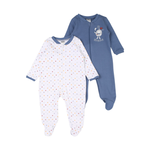 JACKY Pyžamo  bílá / modrá