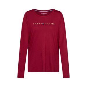 Tommy Hilfiger Underwear Tričko na spaní 'CN TEE LS LOGO GOLD'  červená