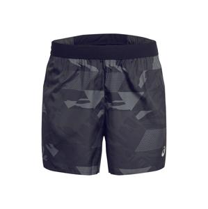 ASICS Sportovní kalhoty 'FUTURE CAMO SHORT'  bílá / černá / šedá