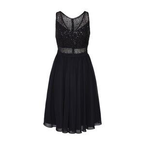SWING Koktejlové šaty  černá / stříbrná
