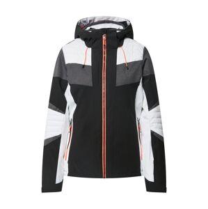 KILLTEC Sportovní bunda 'Savognin'  antracitová / černá / bílá