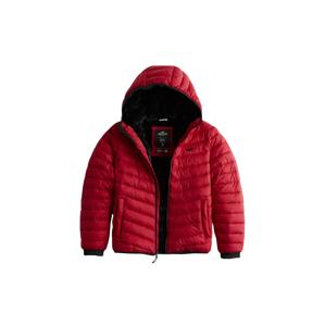 HOLLISTER Zimní bunda 'NARROW CHANNEL'  červená / černá