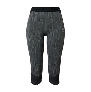 ODLO Sportovní kalhoty 'Blackcomb'  černá / šedá