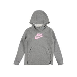 Nike Sportswear Mikina  šedá / pink