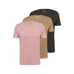 BURTON MENSWEAR LONDON Tričko  růžová / velbloudí / černá